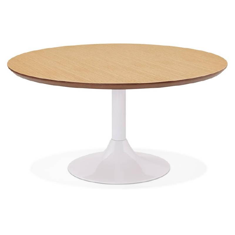 Table basse design VALENTINE en bois et métal peint (chêne naturel) - image 38819