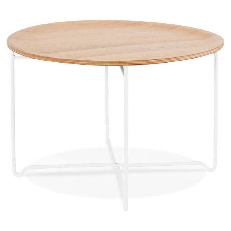 Table basse design TONY en bois et métal peint (chêne naturel) - image 38837