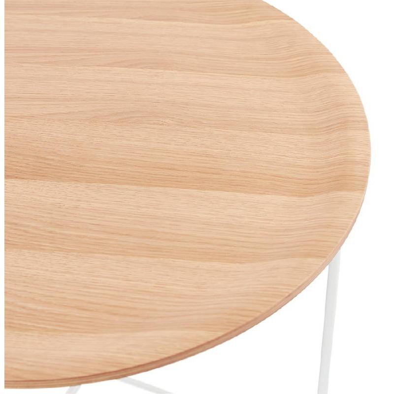 Table basse design TONY en bois et métal peint (chêne naturel) - image 38838