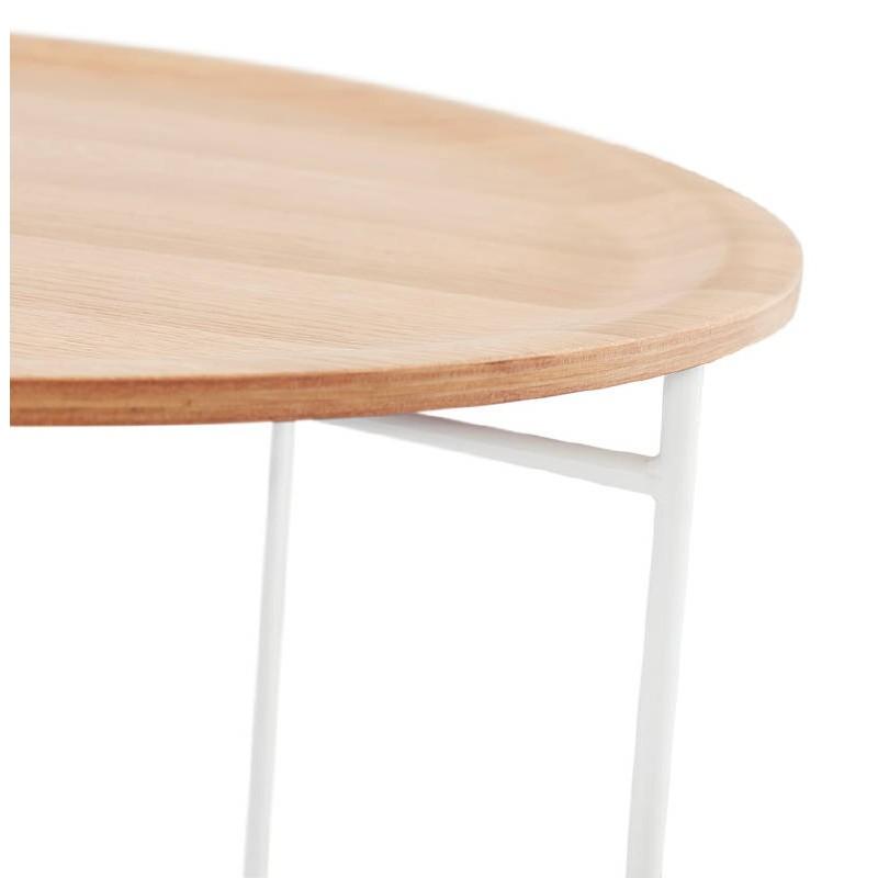 En Et NaturelTables Table Basse Métal Basses Design Bois Peintchêne Tony mN80wn