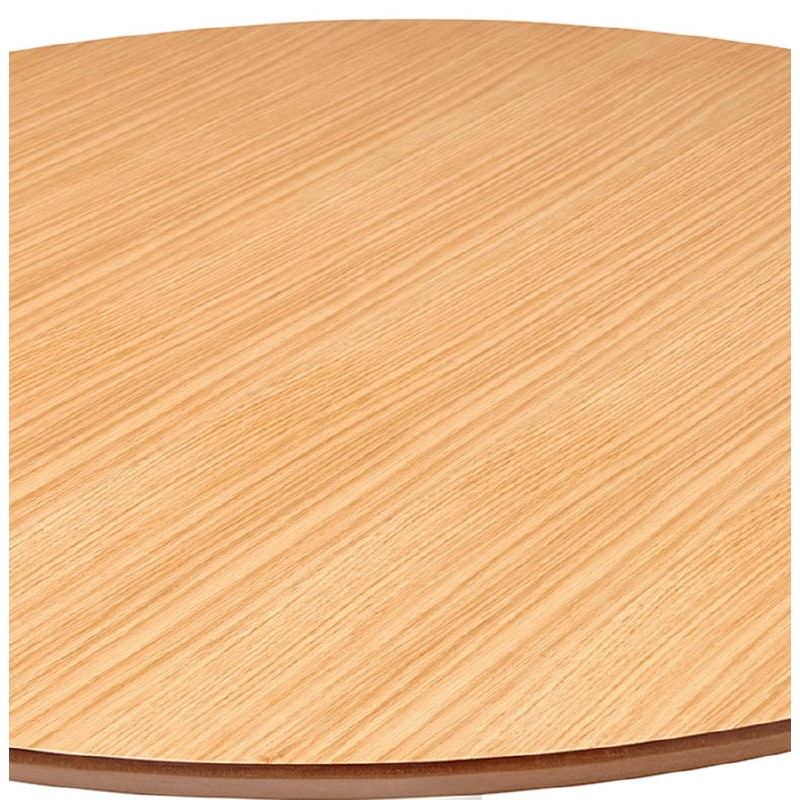 Table basse design WILLY en bois et métal brossé (chêne naturel) - image 38846