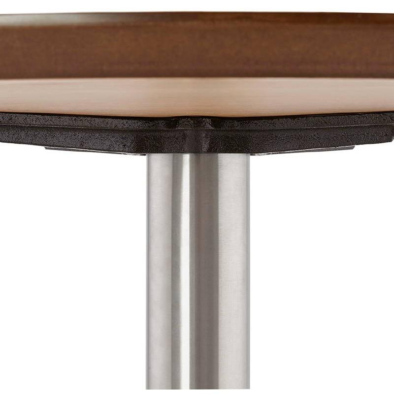 Table basse design WILLY en bois et métal brossé (chêne naturel) - image 38849