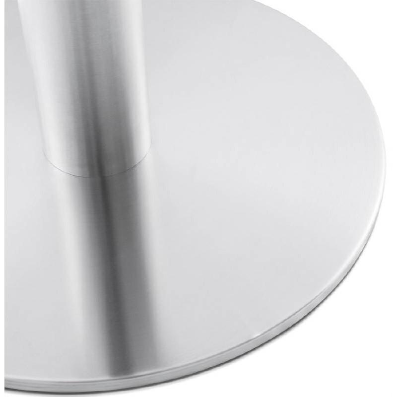 Table basse design WILLY en bois et métal brossé (chêne naturel) - image 38850
