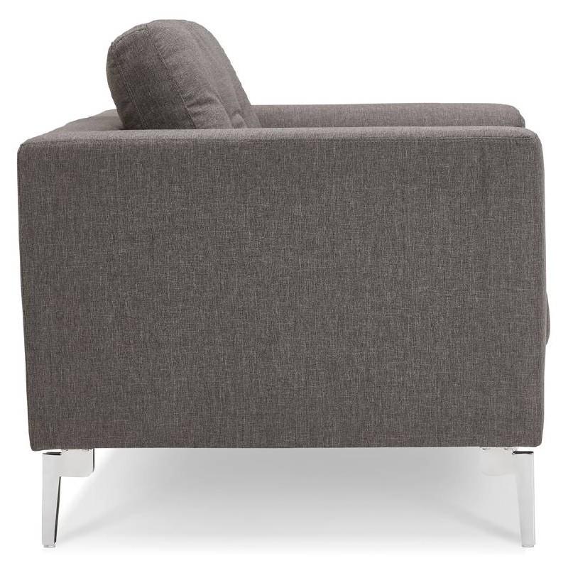 Fauteuil design IRINA en tissu (gris foncé) - image 38880