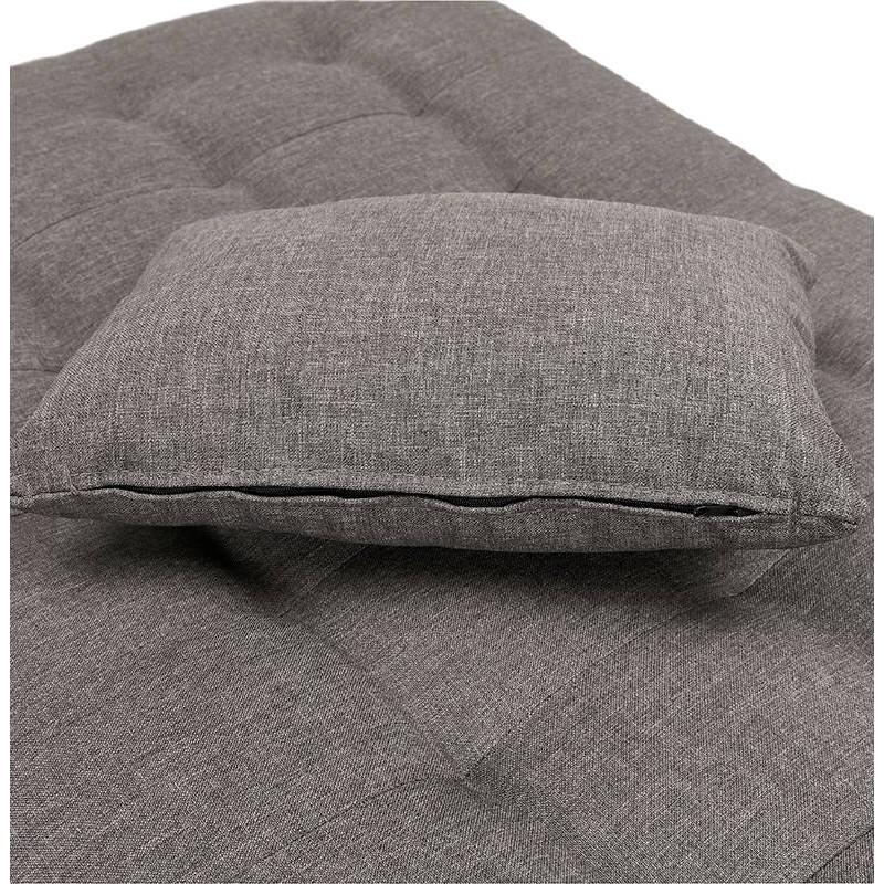 Méridienne convertible design capitonnée RACHEL en tissu (gris foncé) - image 38916