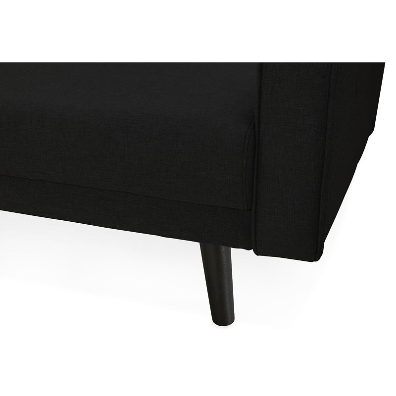 Canapé convertible design capitonné 3 places URSULA en tissu (noir) - image 38938