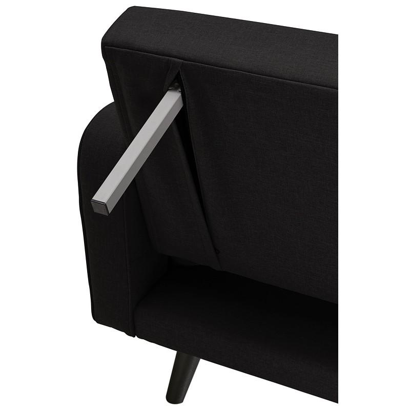 Canapé convertible design capitonné 3 places URSULA en tissu (noir) - image 38943
