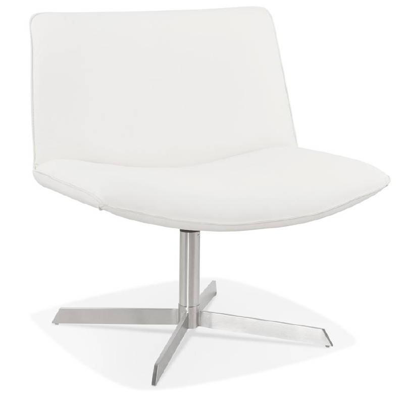 Fauteuil design pivotant MIRANDA (blanc) - image 38946