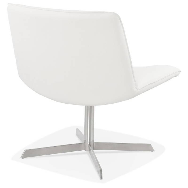 Fauteuil design pivotant MIRANDA (blanc) - image 38949