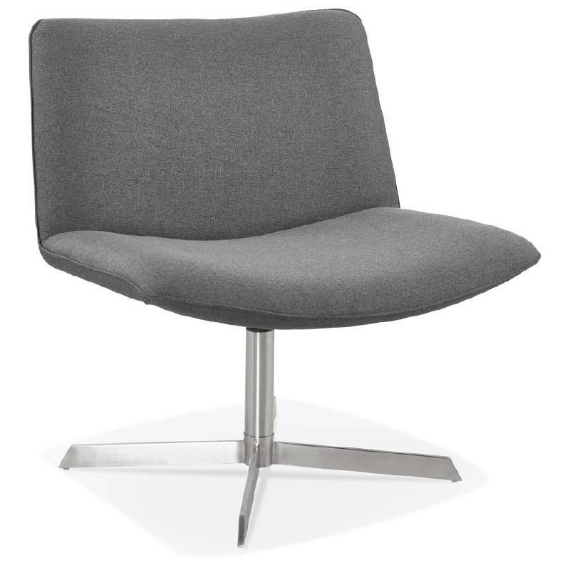 Fauteuil design pivotant MIRANDA (gris foncé) - image 38960