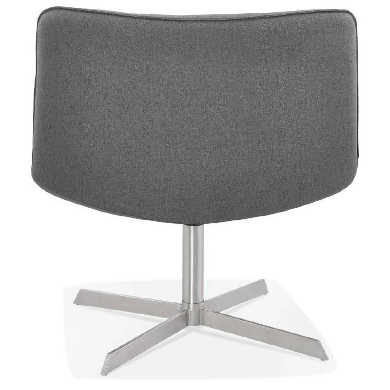 Fauteuil design pivotant MIRANDA (gris foncé) - image 38964