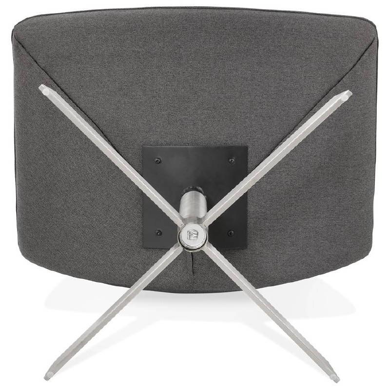 Fauteuil design pivotant MIRANDA (gris foncé) - image 38971