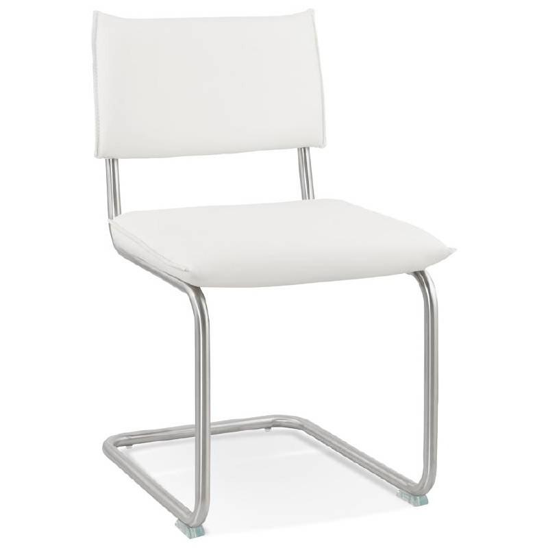 Chaise design rembourrée COLOMBA (blanc) - image 38989