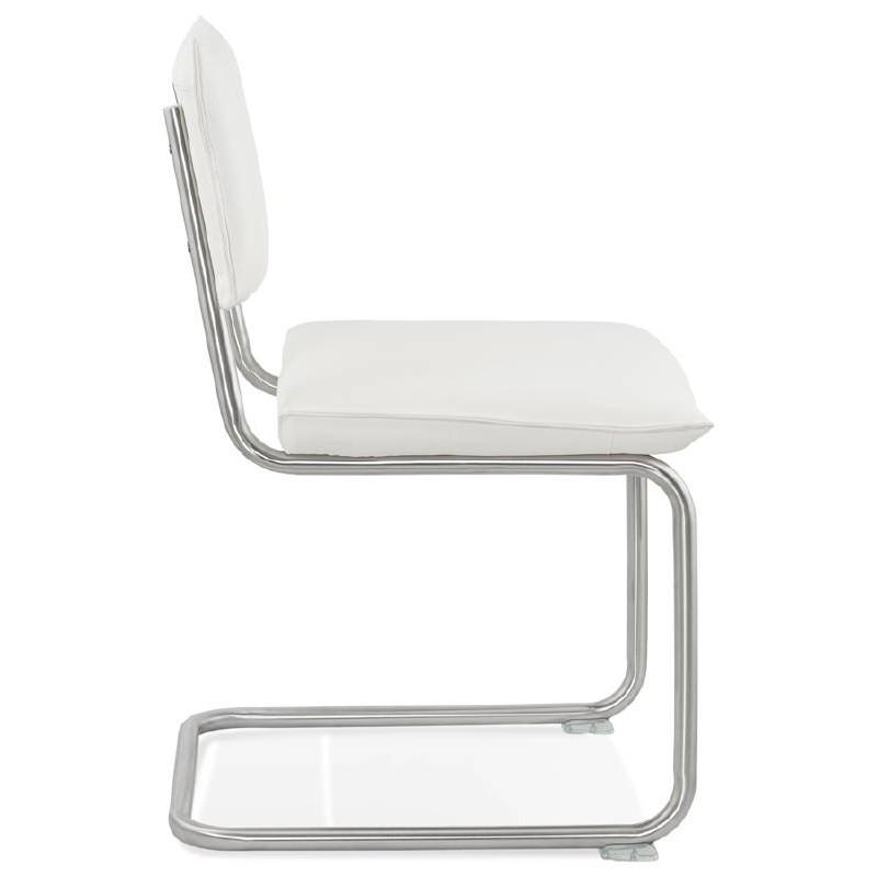 Chaise design rembourrée COLOMBA (blanc) - image 38991