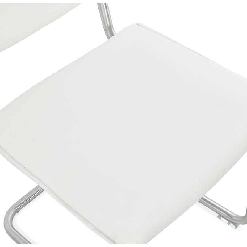 Chaise design rembourrée COLOMBA (blanc) - image 38994