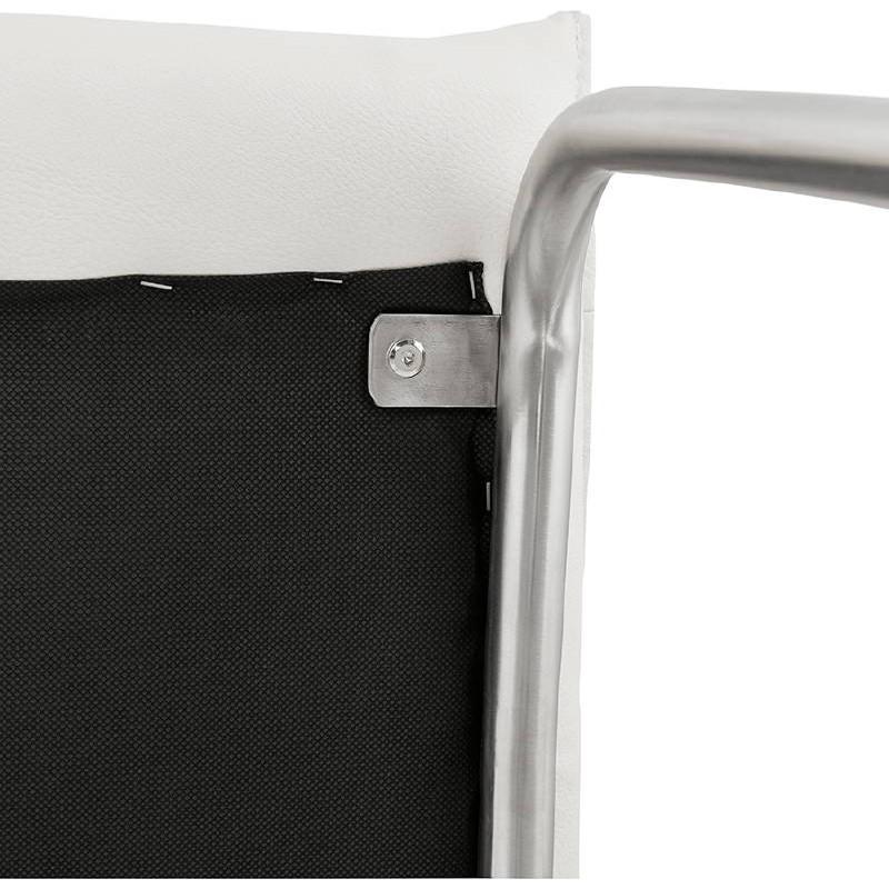 Chaise design rembourrée COLOMBA (blanc) - image 38999