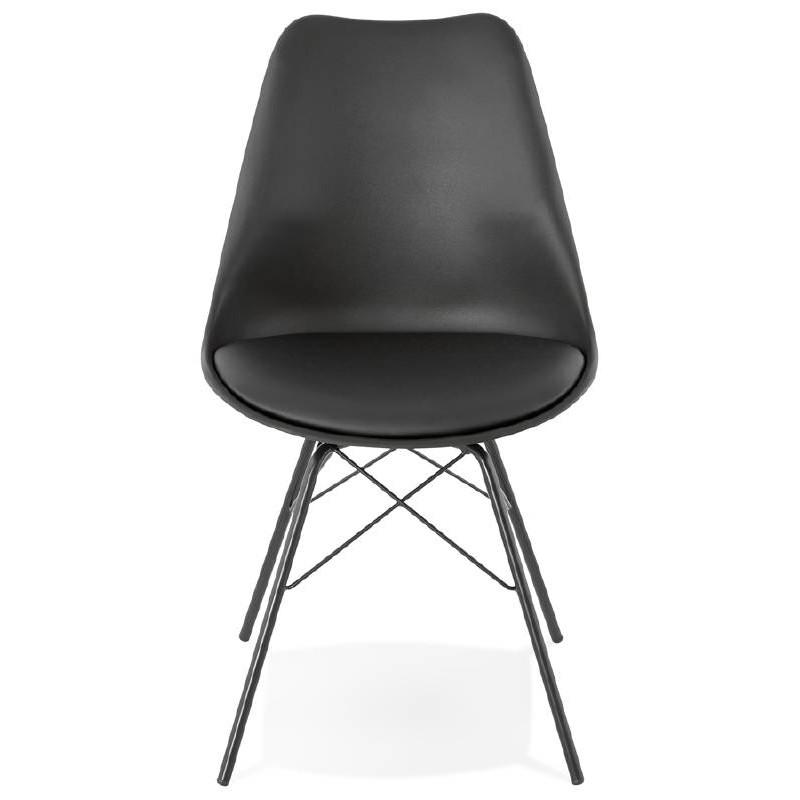 Chaise design style industriel SANDRO (noir) - image 39004