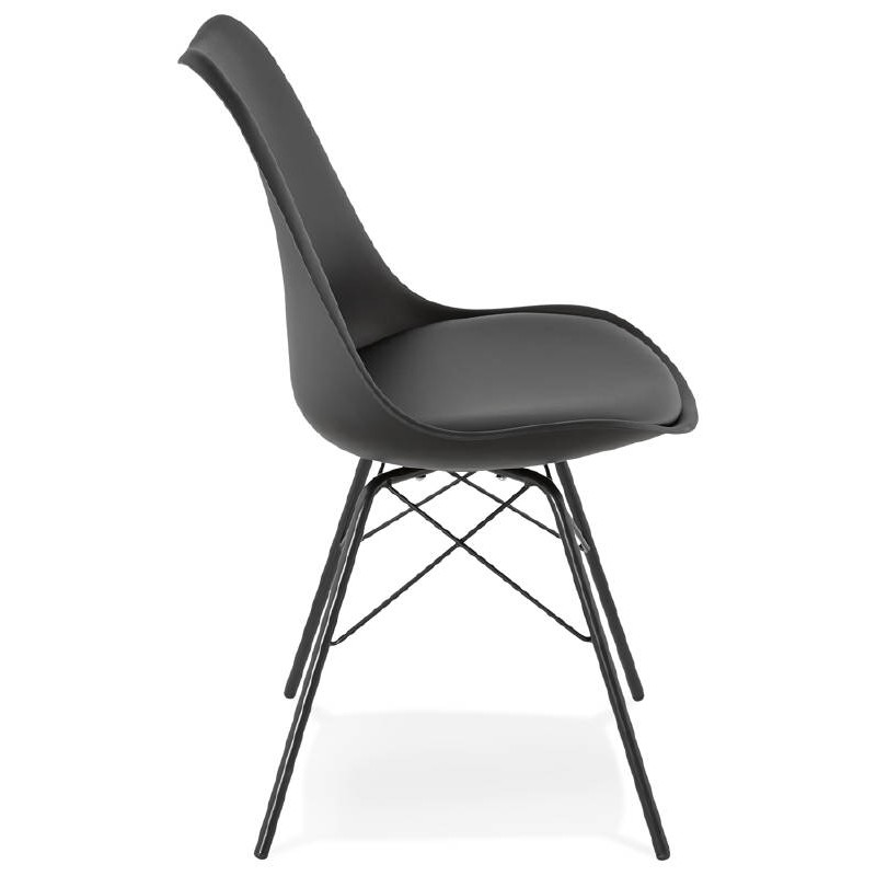 Chaise design style industriel SANDRO (noir) - image 39005
