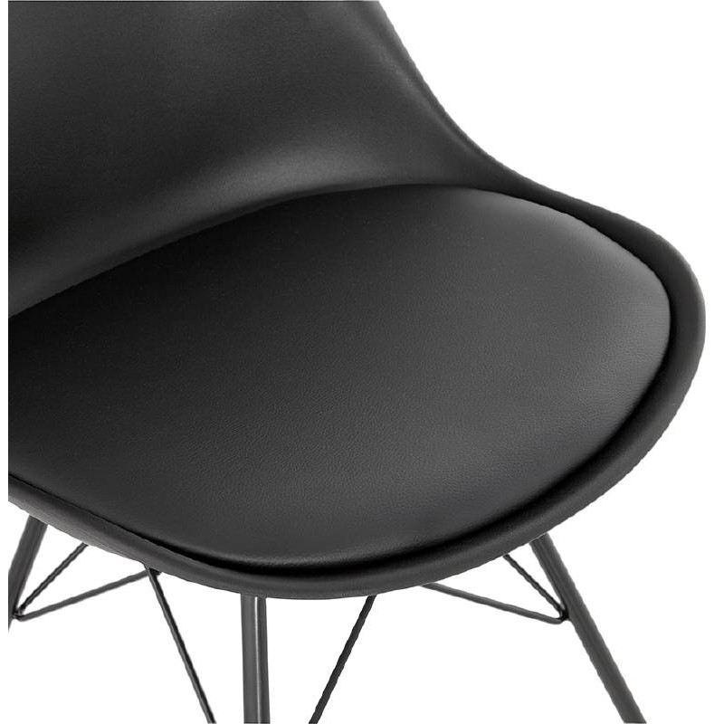 Chaise design style industriel SANDRO (noir) - image 39009