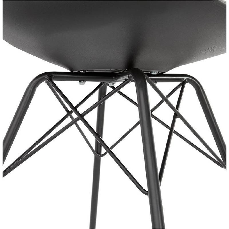 Chaise design style industriel SANDRO (noir) - image 39012