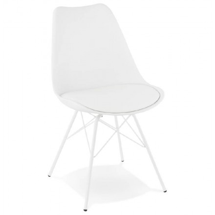 Design chair industrial style SANDRO (white)