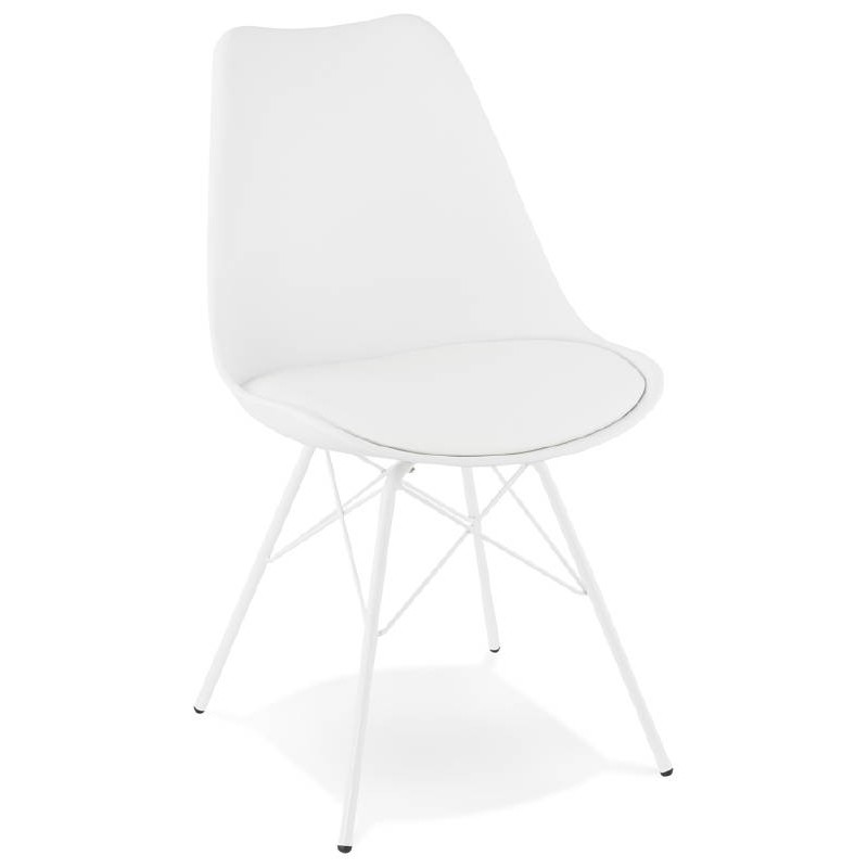 Chaise design style industriel SANDRO (blanc) - image 39017