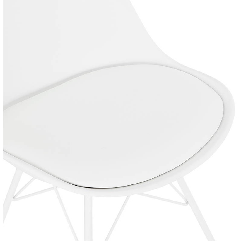 Chaise design style industriel SANDRO (blanc) - image 39023