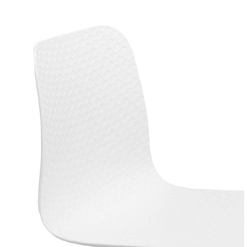 Chaise design et industrielle VENUS en polypropylène pieds métal noir (blanc) - image 39043