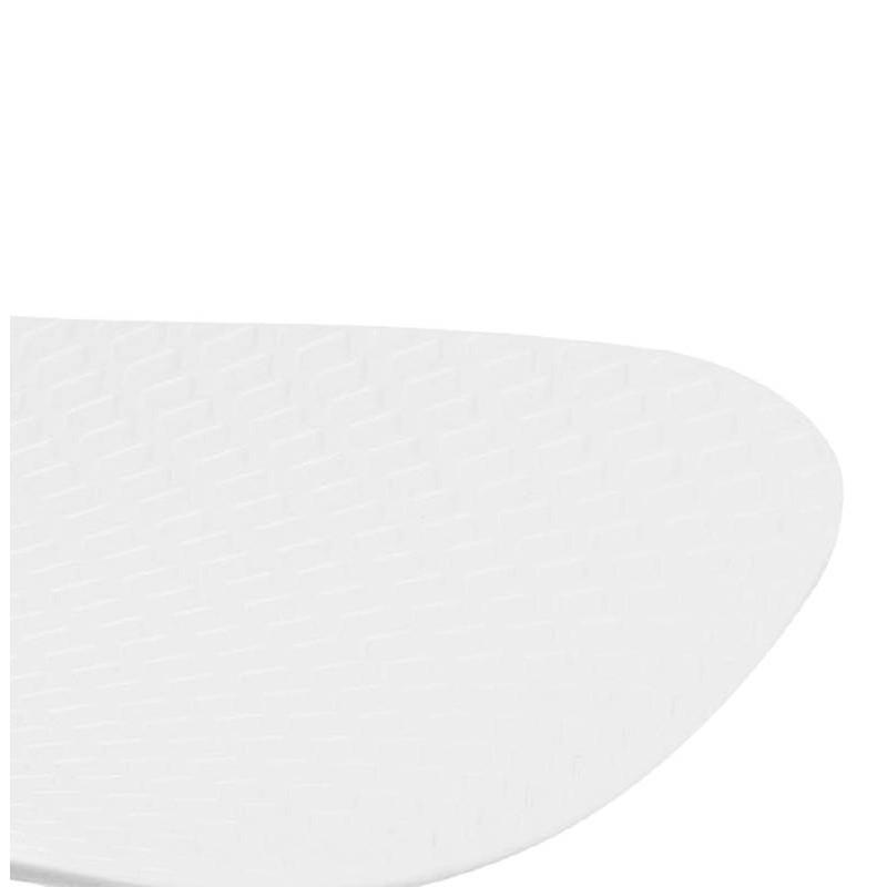 Chaise design et industrielle VENUS en polypropylène pieds métal noir (blanc) - image 39044