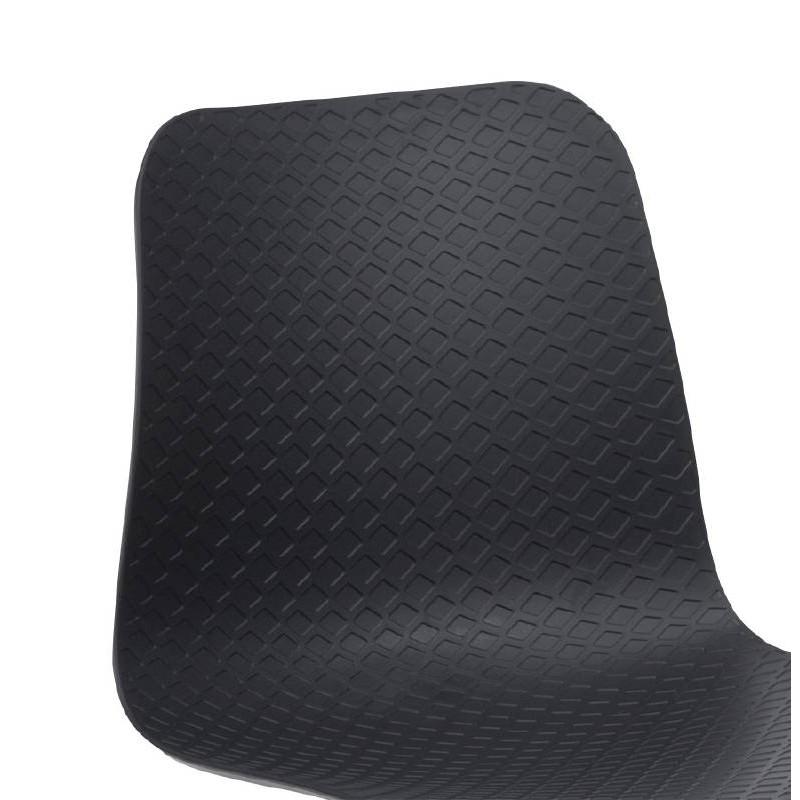 Chaise design et industrielle VENUS en polypropylène pieds métal chromé (noir) - image 39061