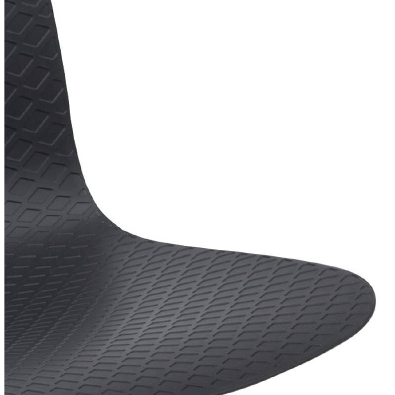 Chaise design et industrielle VENUS en polypropylène pieds métal chromé (noir) - image 39062