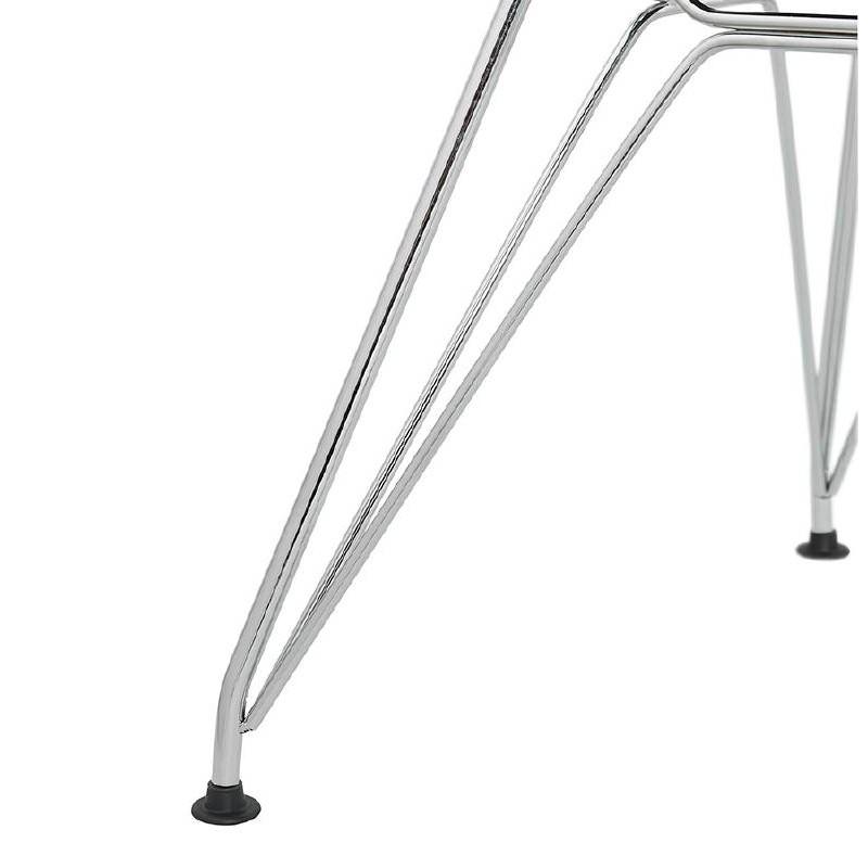 Chaise design et industrielle VENUS en polypropylène pieds métal chromé (noir) - image 39064