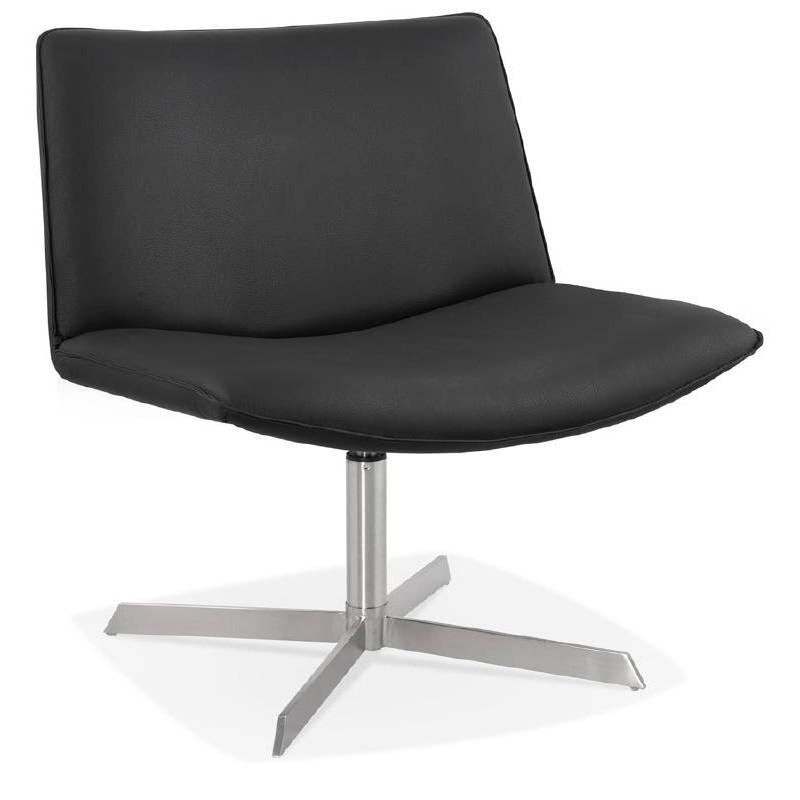 Fauteuil design pivotant MIRANDA (noir) - image 39067