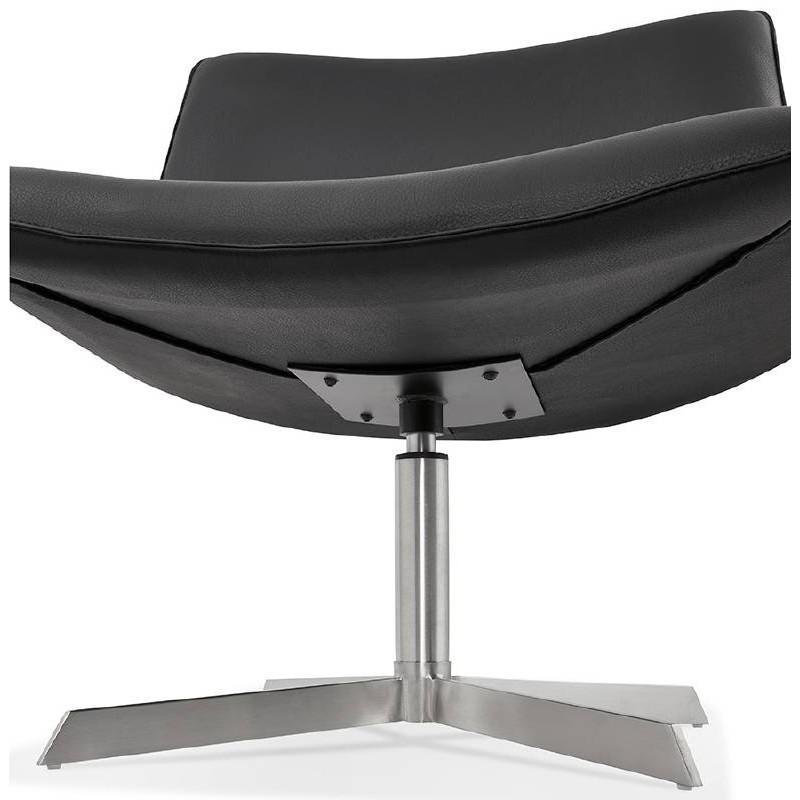 Fauteuil design pivotant MIRANDA (noir) - image 39076