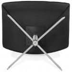 Fauteuil design pivotant MIRANDA (noir)