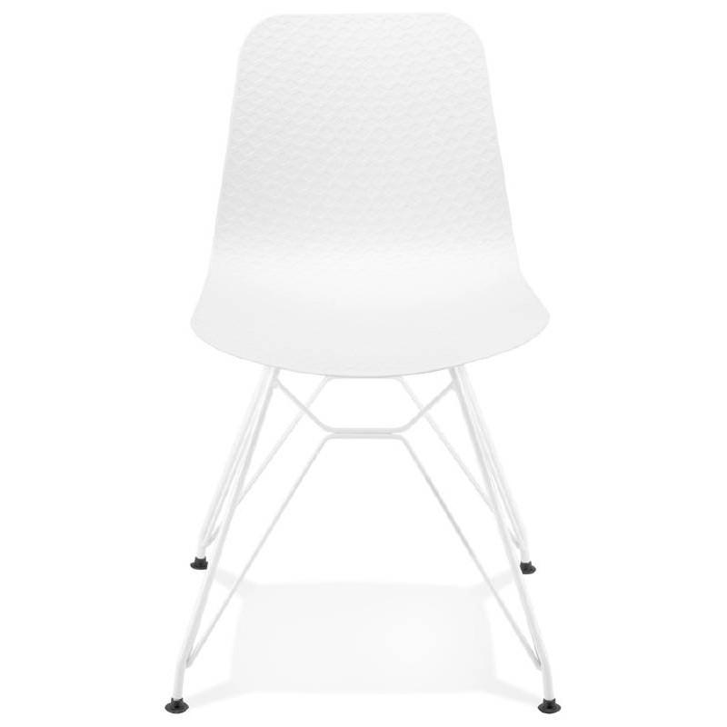 Chaise Design Et Moderne VENUS En Polypropylne Pieds Mtal Blanc