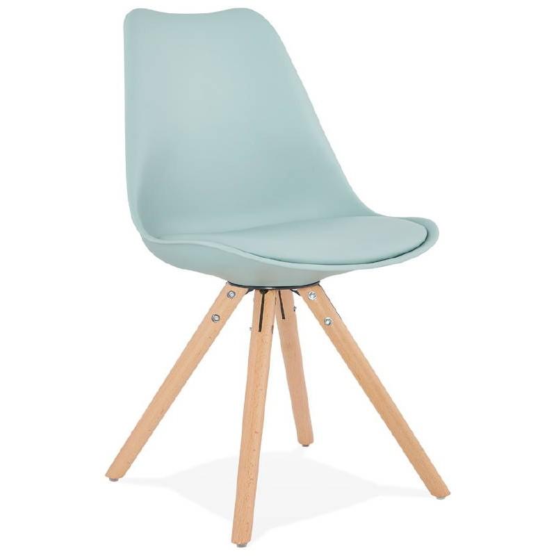 Chaise moderne style scandinave NORDICA (bleu ciel) - image 39116