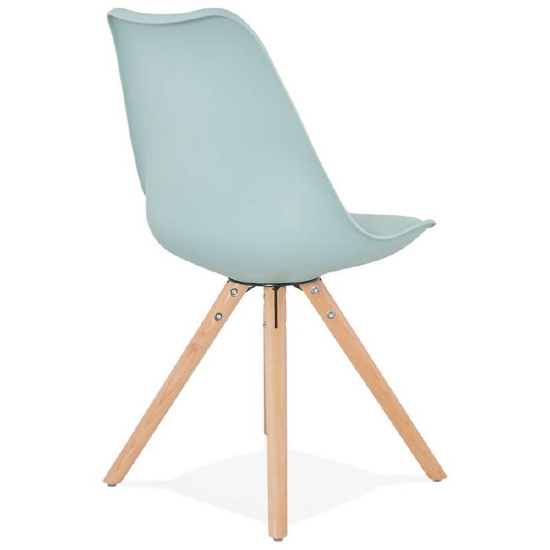 Chaise moderne style scandinave NORDICA (bleu ciel) - image 39119