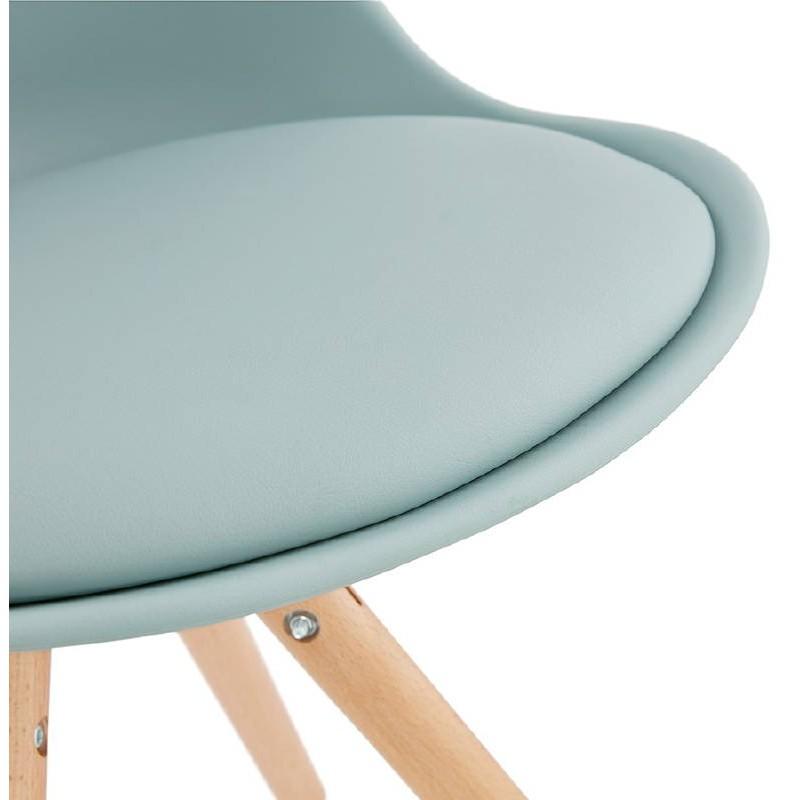 Chaise moderne style scandinave NORDICA (bleu ciel) - image 39122