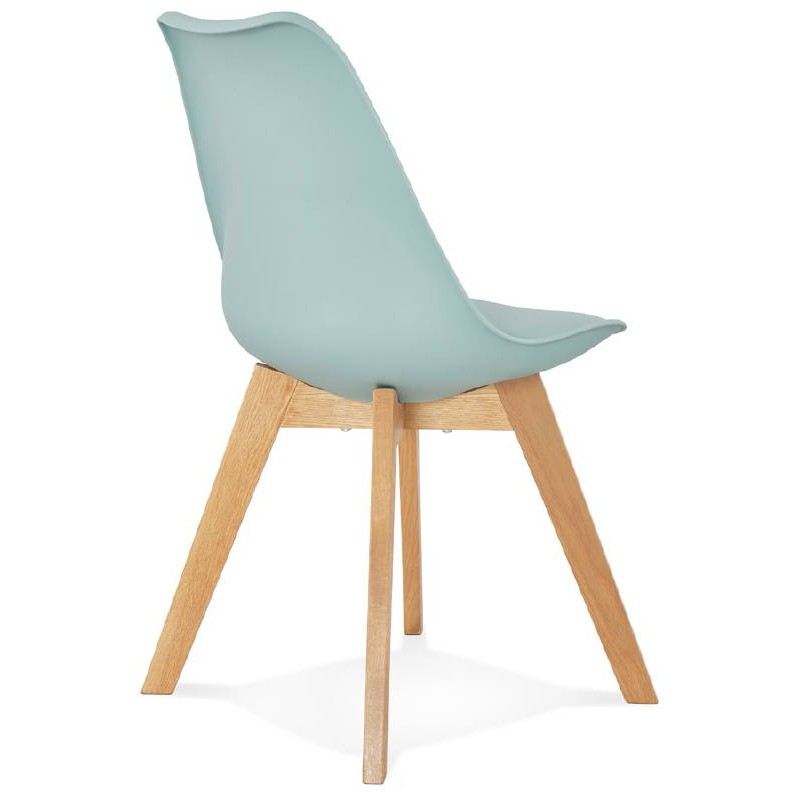 Chaise Moderne Style Scandinave SIRENE Bleu Ciel