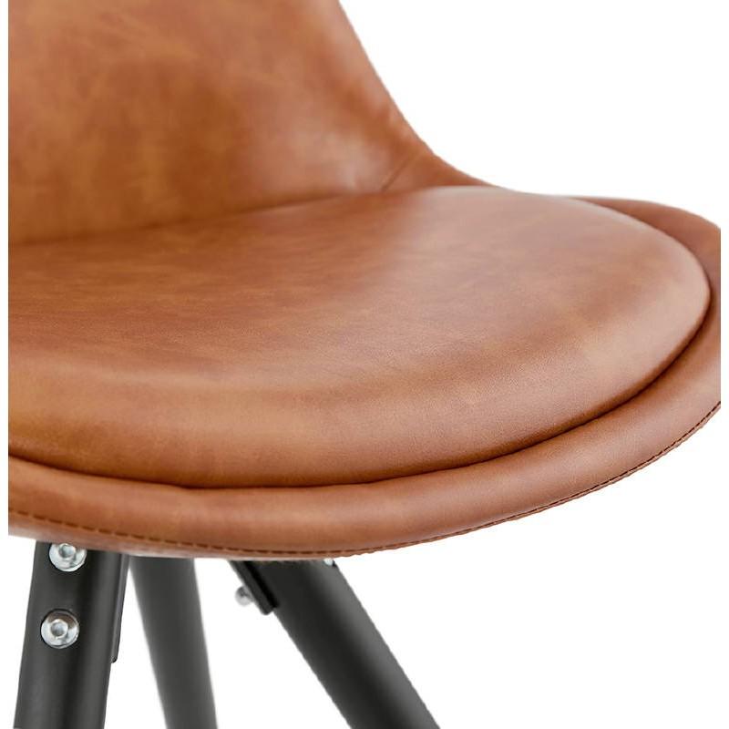 Sedia design e ASHLEY industriale nero piedi (marrone chiaro) - image 39164