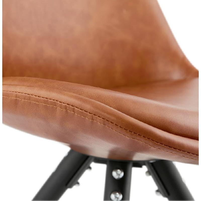 Sedia design e ASHLEY industriale nero piedi (marrone chiaro) - image 39165