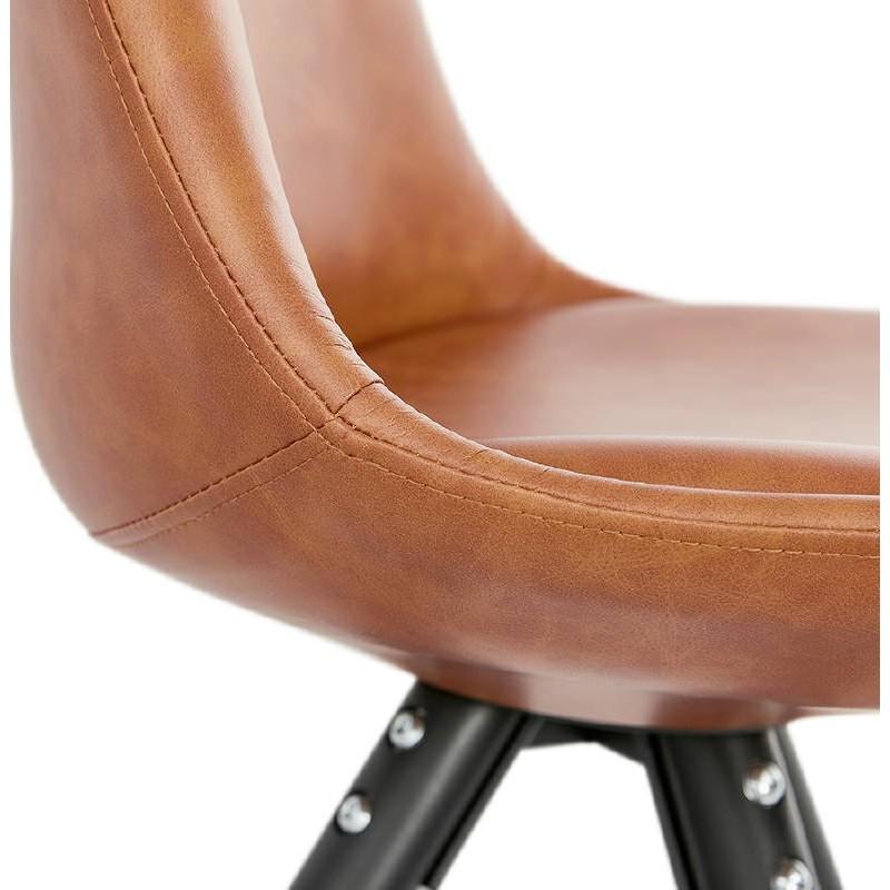 Sedia design e ASHLEY industriale nero piedi (marrone chiaro) - image 39166