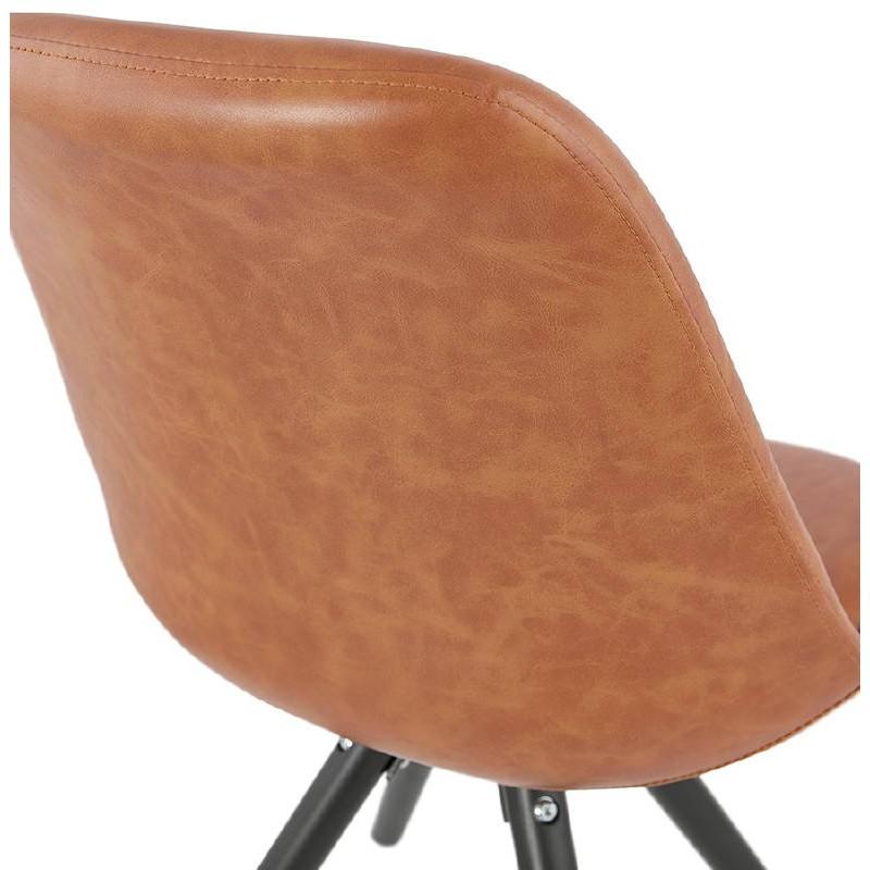 Sedia design e ASHLEY industriale nero piedi (marrone chiaro) - image 39167