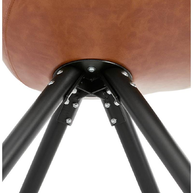 Sedia design e ASHLEY industriale nero piedi (marrone chiaro) - image 39169