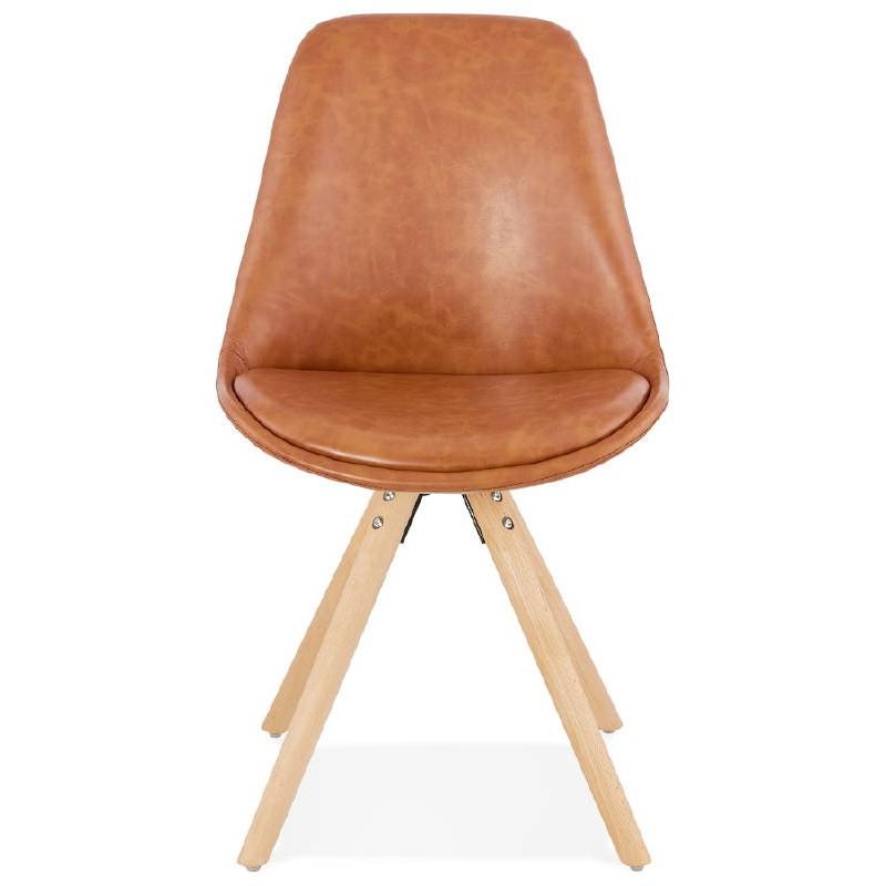 Chaise design ASHLEY pieds couleur naturelle (marron) - image 39175