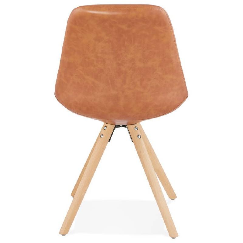 Chaise design ASHLEY pieds couleur naturelle (marron) - image 39178