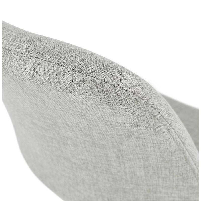 Chaise design ASHLEY en tissu pieds noirs (gris clair) - image 39193