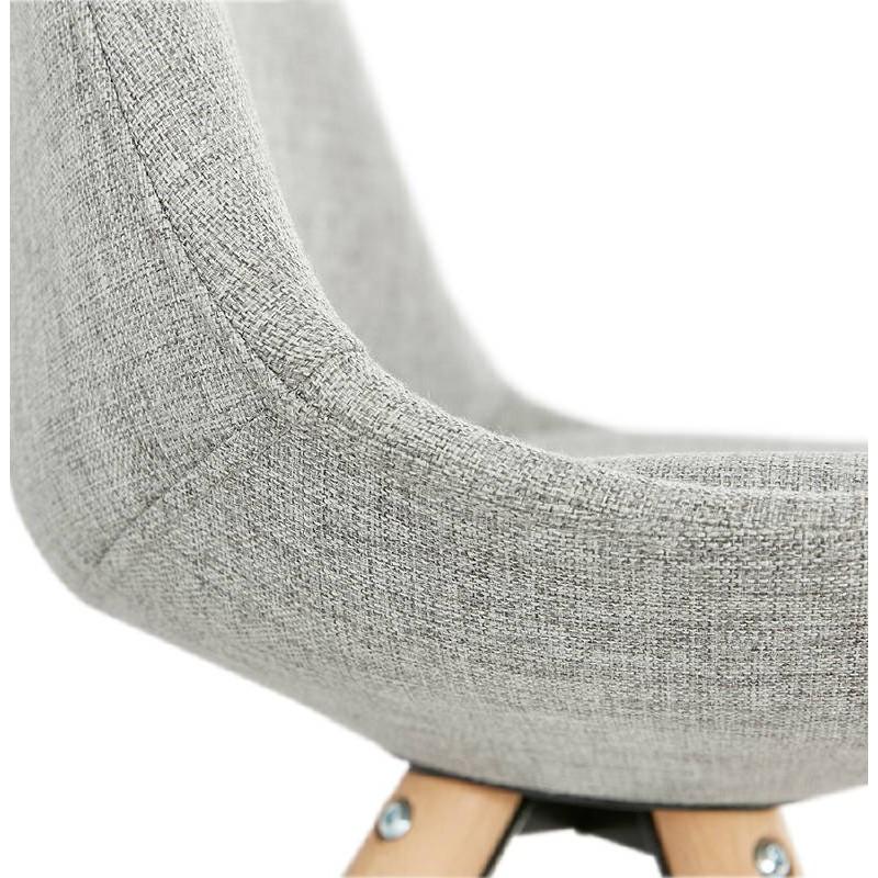 Sedia design scandinavo piedi colore naturale (grigio chiaro) del tessuto di ASHLEY - image 39204