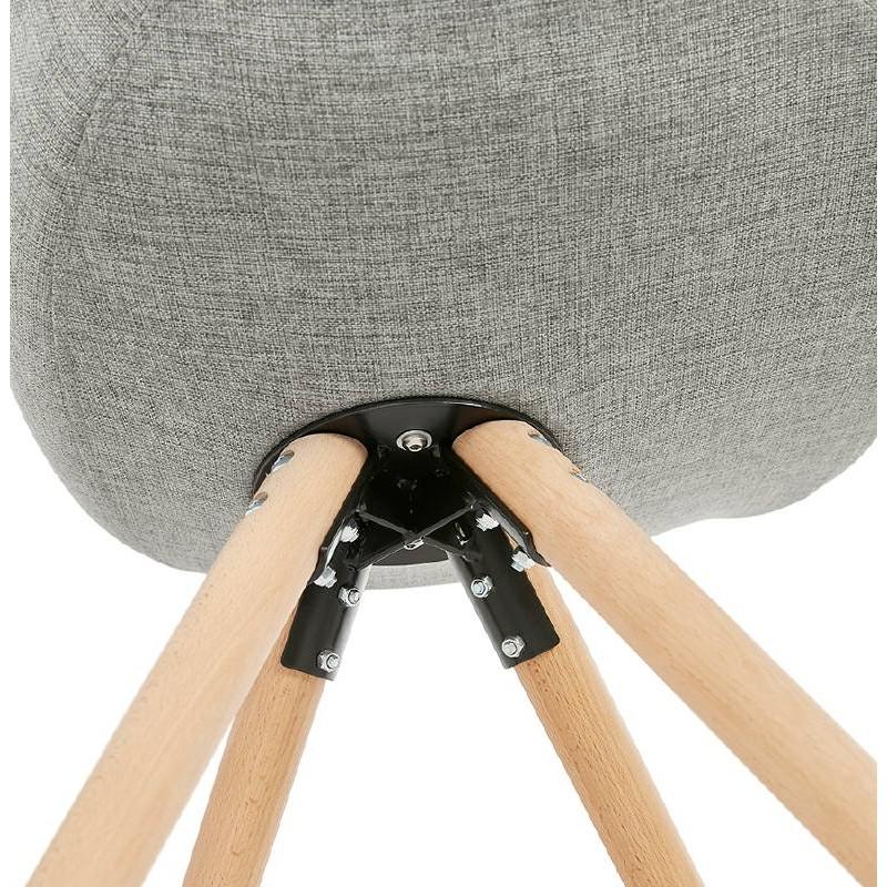 Sedia design scandinavo piedi colore naturale (grigio chiaro) del tessuto di ASHLEY - image 39208